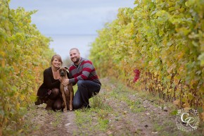 Prince Edward County Winery Engagement Photo