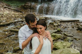Waterfall Engagement Photo Christine Reid Photography