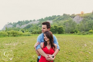 Scarborough Bluffs Lakefront Country Summer Engagement Photo