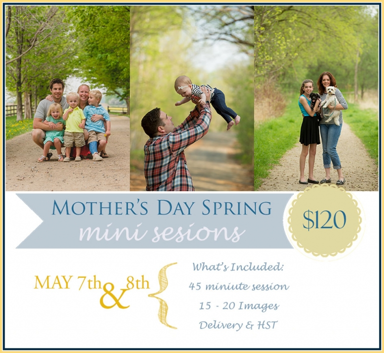 Kitchener Waterloo Mothers Day Photographer Annoucement